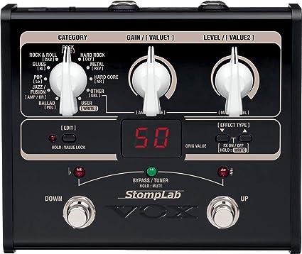 Vox STOMPLAB1G - Pedal multiefecto para guitarra (batería alcalina): Amazon.es: Instrumentos musicales