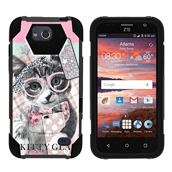 best cheap 9f51f 295ca TurtleArmor | Compatible for ZTE Majesty Pro Case | ZTE Majesty Pro Plus  Case [Dynamic Shell] Hard Hybrid Kickstand Silicone Impact Cover Protection  ...