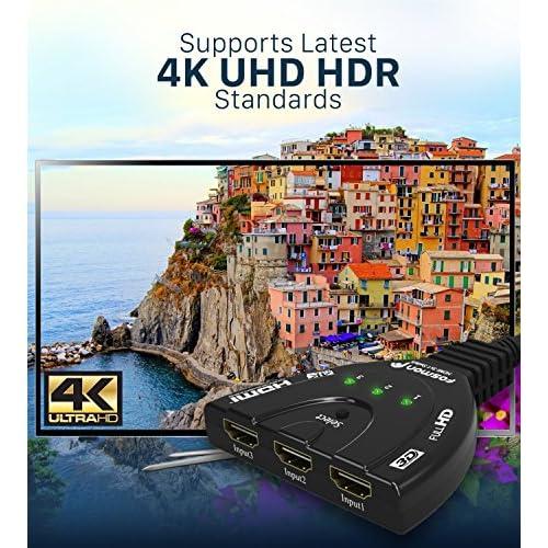 3-Port HDMI Switch, Fosmon HD8061 3x1 [Automatic Switching