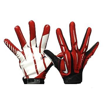 san francisco 076d2 93586 Nike Adult Superbad 2.0 Football Gloves (Red Black White, Large)