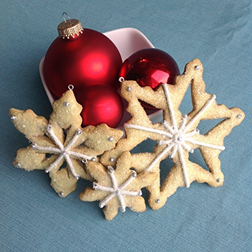 Individual Snowflake Sugar Cookie Christmas Ornament (3 Sizes Available)