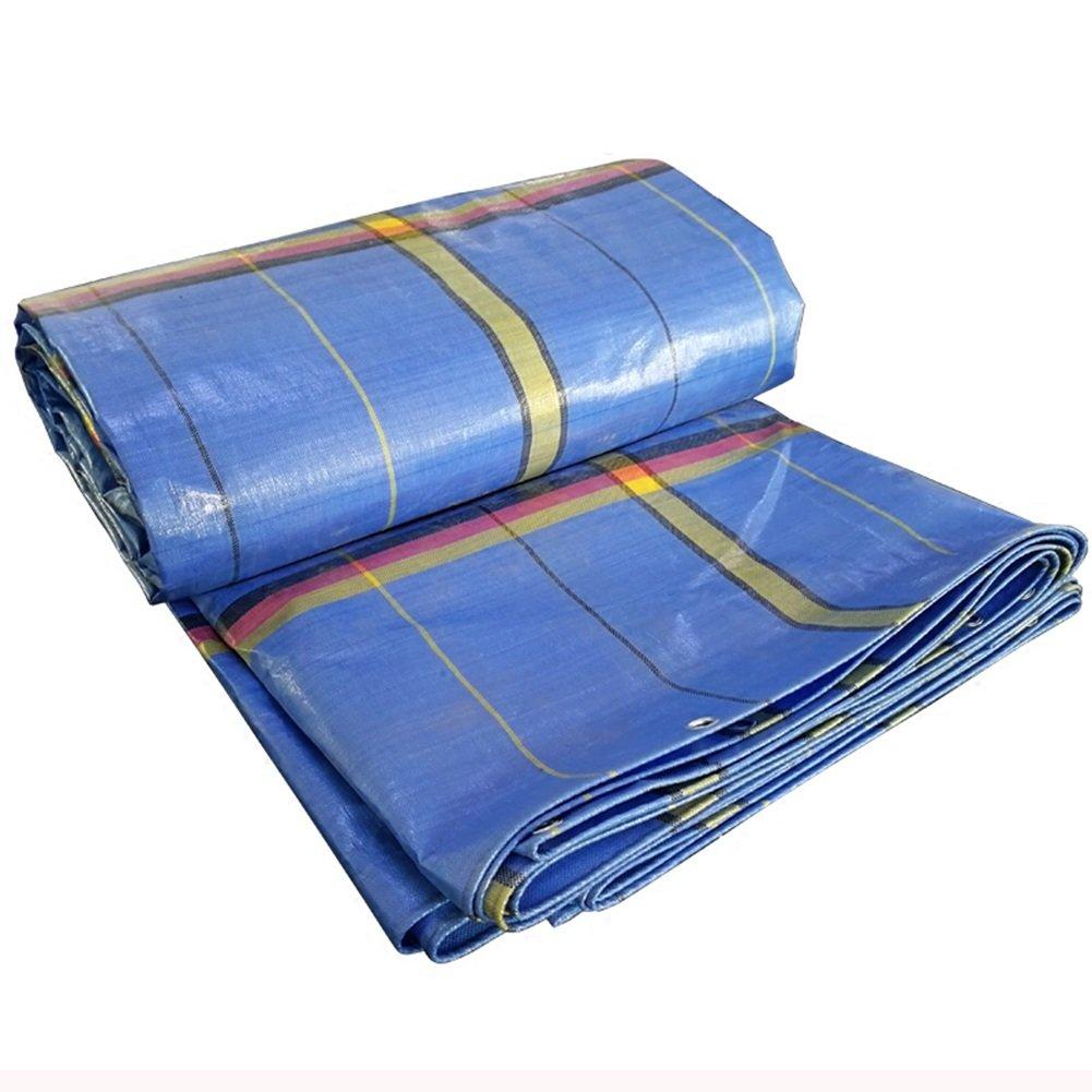 KKCF オーニング テント 雨布 ターポリン 軽トラック 荷台用シート PE 厚い 雨布 リノリウム 車 屋外 日焼け止め 防水 シェード、 250g/m²、 厚さ0.4mm (サイズ さいず : 5x6m) B07FX449XK 5x6m  5x6m