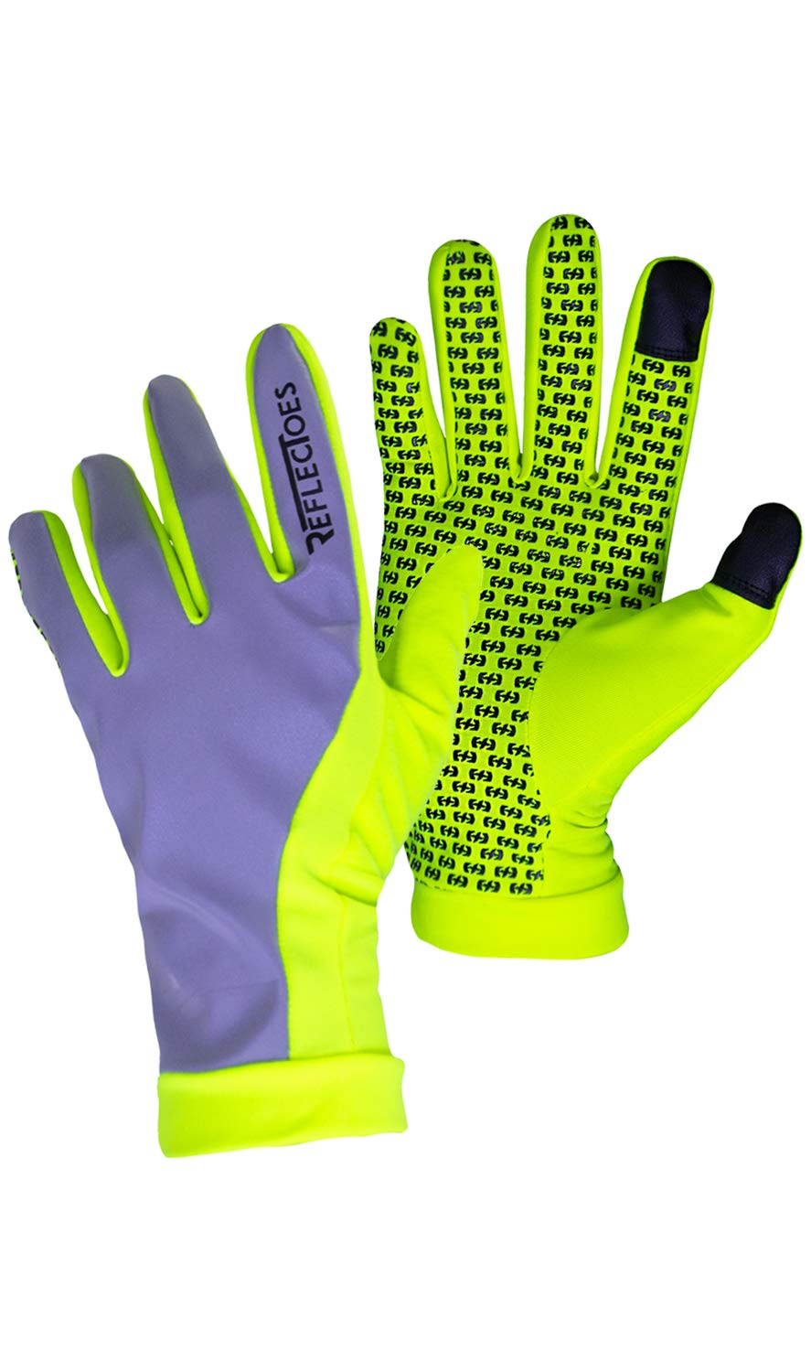 ReflecToes Reflective Running Gloves Lightweight Hi Vis Winter Running Gear Cold Weather Jogging at Night