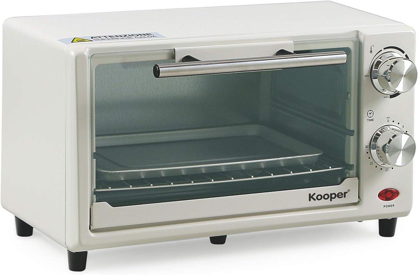 Kooper Arizona 11 - Horno eléctrico, 11 L, 650 W, blanco/gris, 36 x 22 x 21 cm