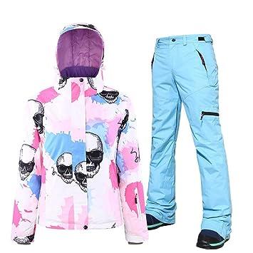 AOIUGE Traje de esquí, Traje de esquí, para Mujer Chaqueta de ...