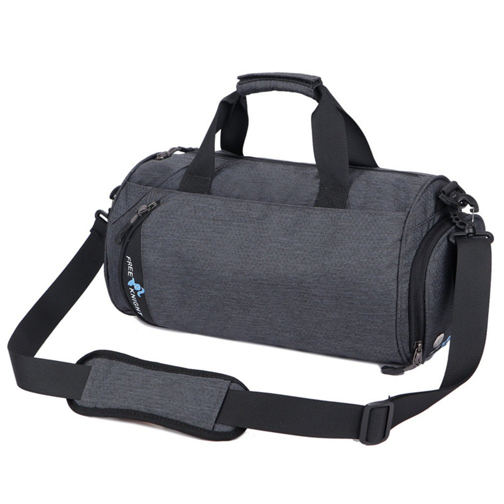 Breadaye Waterproof Men Sports Gym Bags Leisure Yoga Fitness Bag Women Travel Handbag Training Duffle Bag Dark gray by Breadaye