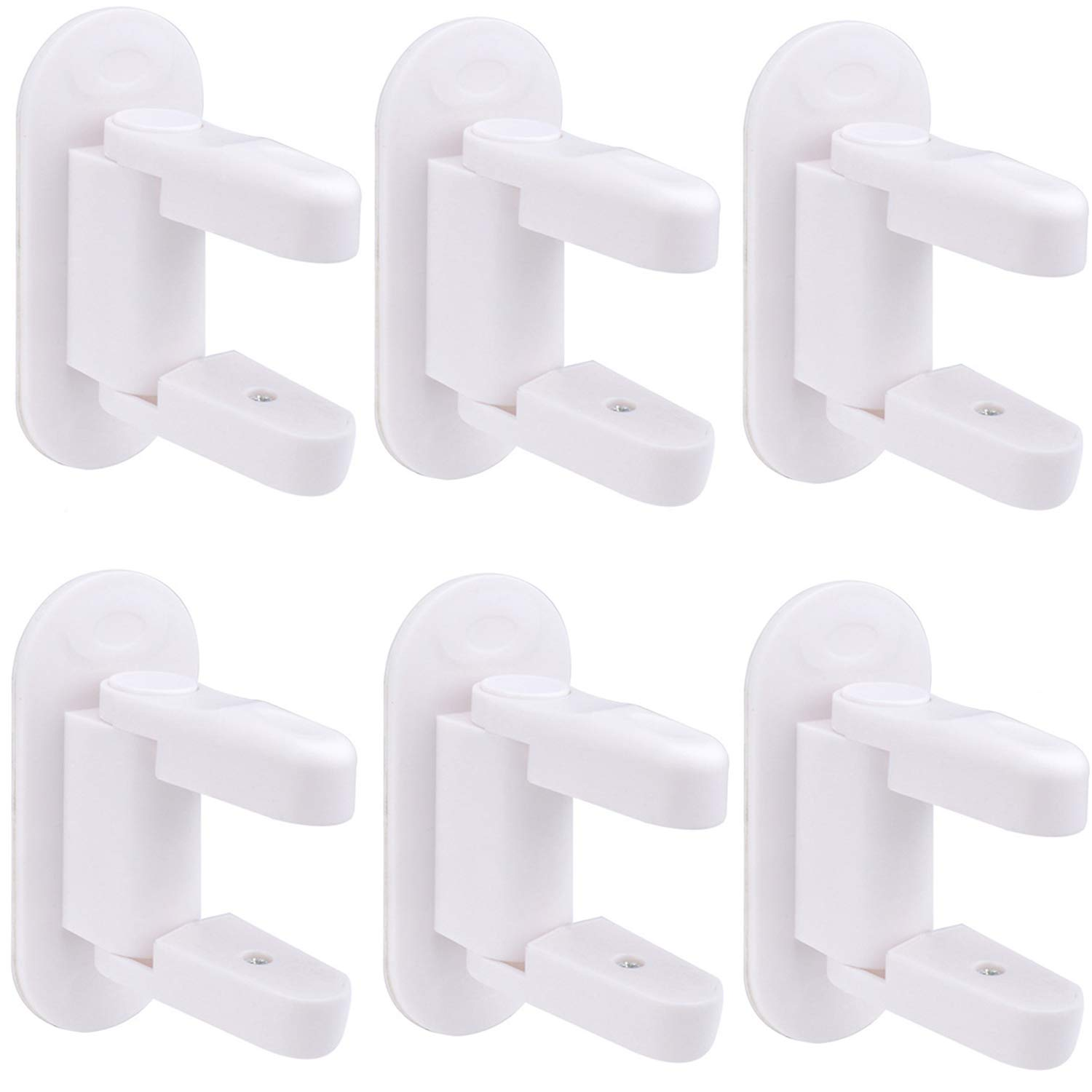 Child Safety Door Lever Locks- 6 pack Child Proof Doors & Handles 3M Adhesive for Kids Baby by BABYBUY
