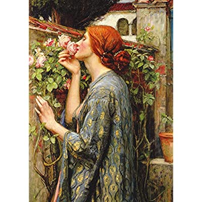 D-Toys The Soul of the Rose by Artist J.W. Waterhouse 1000 Piece Flowers Jigsaw Puzzle