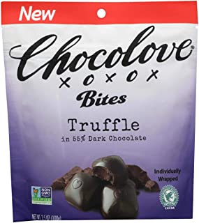 product image for Chocolove XOXOX Bites, Truffle 3.5 oz, 55% Dark Chocolate, Individually Wrapped, NON GMO