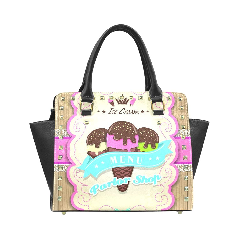 Ice Cream Rivet PU Leahter Shoulder Handbag For Fashion Women/Girls