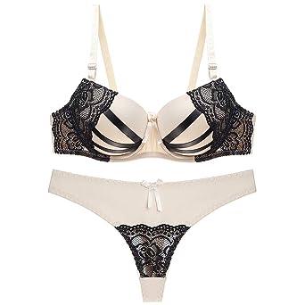 Julexy BC Sexy Thongs Women Bra Set Push Up Lingerie Set Lace Underwear  Panty Set B09 at Amazon Women s Clothing store  5560303fd
