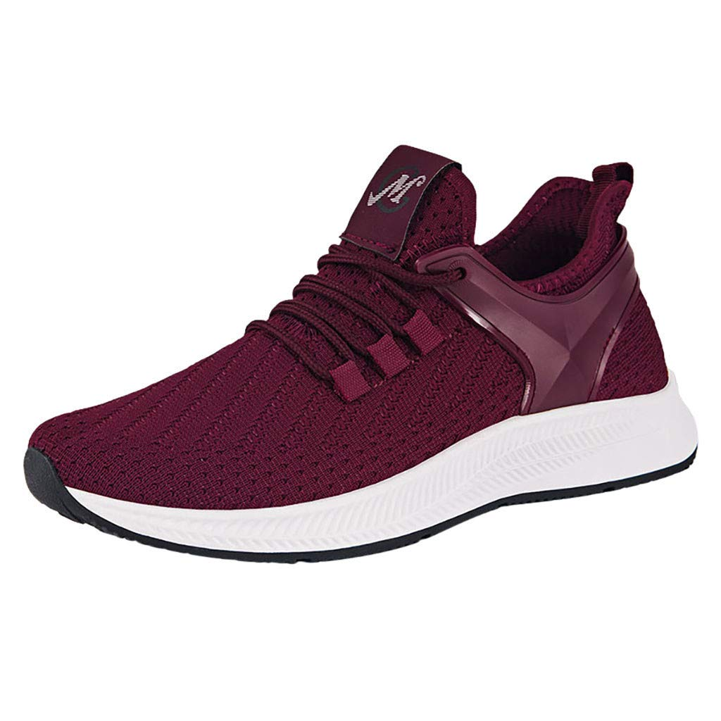 Men Bottom Mesh Shoes, Male Woven Breathable Outdoor Sneakers Wild Casual Shoes Soft Fashion Running Shoes