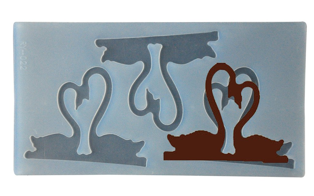 FOUR-C Chocolate Decorating Tools Love Chocolate Mold Silicone Mat MJ-RY-005