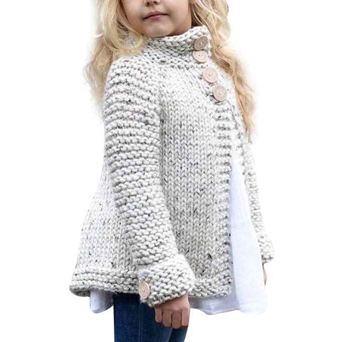 niñas manga larga suéter encapuchado capa pull-over outwear Sannysis ...
