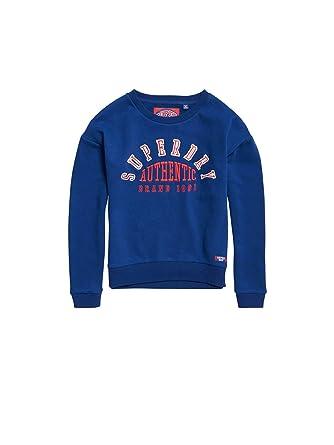 Sweat Longues Superdry Bleu Navy Manches Femme Soft Shirt hdCxstQr