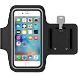 MMOBIEL Sportband for iPhone 5 5C 5S SE (Black) Armband Water Resistant Lightweight Soft Neoprene Stretchable Reflective Strip For Low Light Conditions Dual Arm Slots
