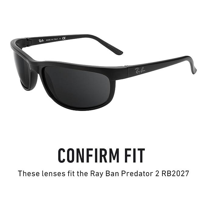 92f1f8a180a1b Nuevo Negro Polarizadas Repuesto lentes encajan RAY BAN WAYFARER 2140 54mm  Gafas de sol