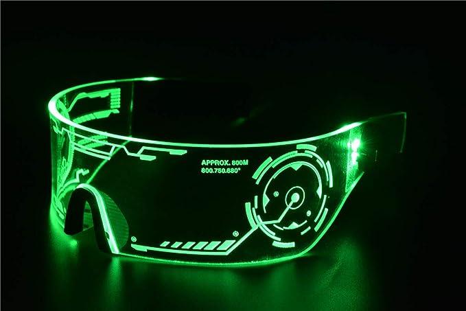 Cyberpunk Gafas con Visera LED Gafas Luminosas LED Gafas con Visera Electr/ónica Futurista Tongyundacheng Gafas con Luz LED Gafas con Visera LED para Festival Fiesta De Cumplea/ños Navidad Halloween
