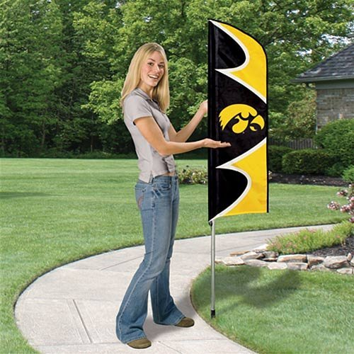 Party Animal Iowa Hawkeyes NCAA Swooper Flag and Pole