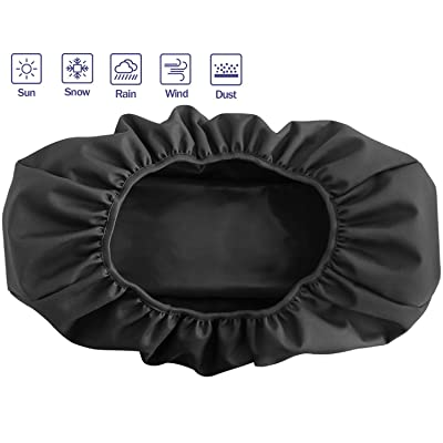 """Winch Cover, Heavy Duty Waterproof Dust-Proof Winch Protection Cover, Ideal for Electric Winches 8500-17500 lbs, Indoor/Outdoor (21.5"""" x 9.5"""" x 7.5"""") - Black: Home Improvement"""
