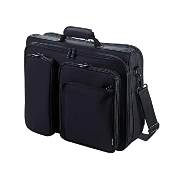 4dc69fe5d0 エレコム ビジネスバッグ キャリングバッグ A4対応 15.4インチワイド クラムシェルタイプ ブラック BM-SA04BK