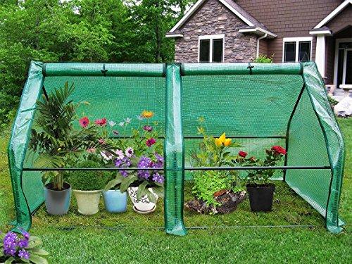 Patio Heater Green (Yardeen 2 Doors Large Zipper Portable Patio Greenhouse Ocala Extend Flower Vegetable Garden 71