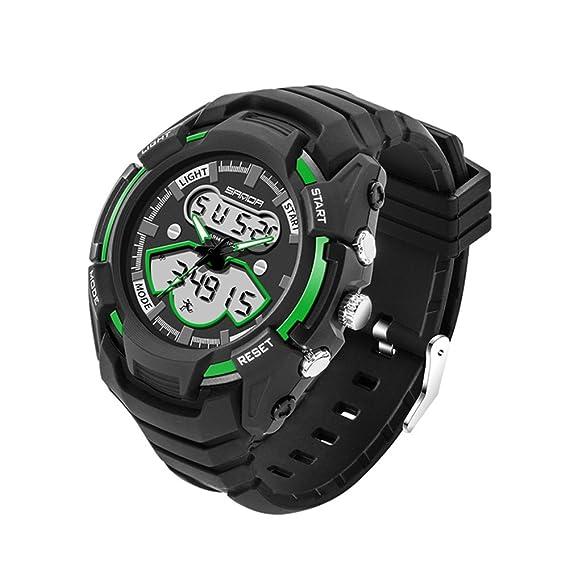 Resistente niño al agua reloj/Reloj digital de moda deporte/mesa versátil Varonil-B: Amazon.es: Relojes