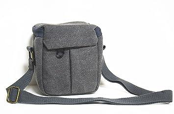 V97 camshot lienzo cámara caso bolsa de hombro gris para Sony dsc ...