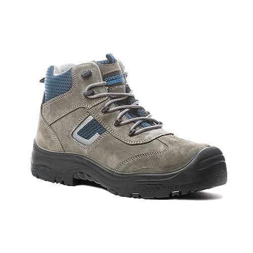 Coverguard zapato de seguridad Montante cobalto II S1P SRC 100% sin metal, Gris (gris), 38 EU: Amazon.es: Zapatos y complementos