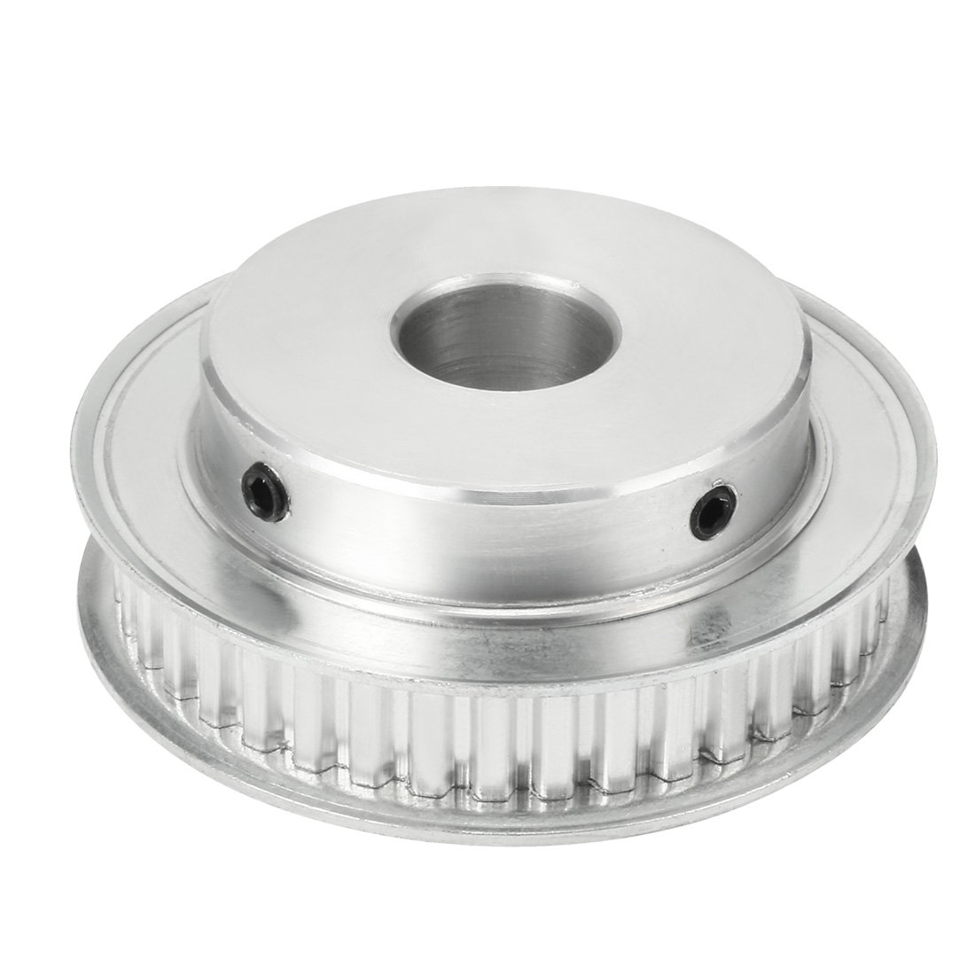 uxcell Aluminum XL 40 Teeth 14mm Bore Timing Belt Idler Pulley Flange Synchronous Wheel for 10mm Belt CNC