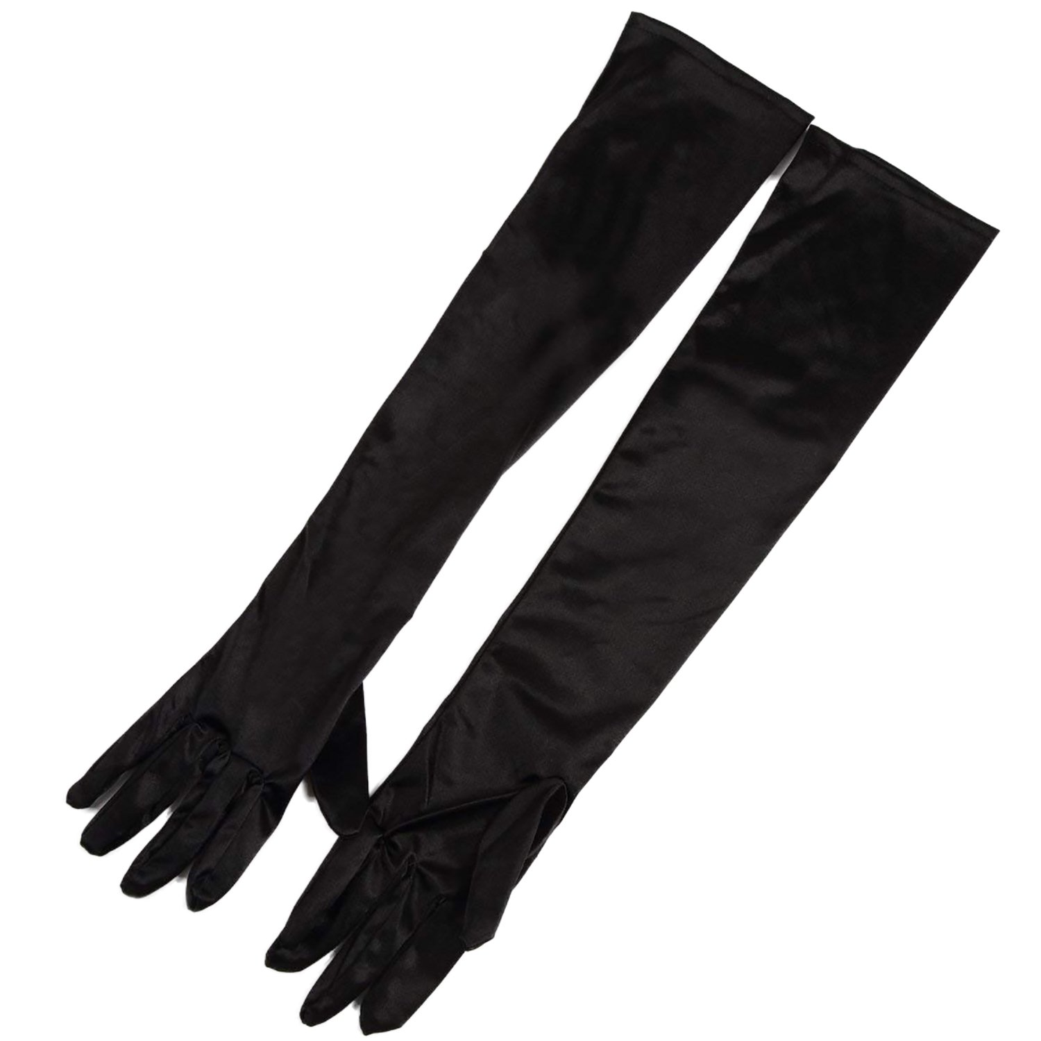 [ps.j] wedding gloves costume the satin gloves (black) by ps.j