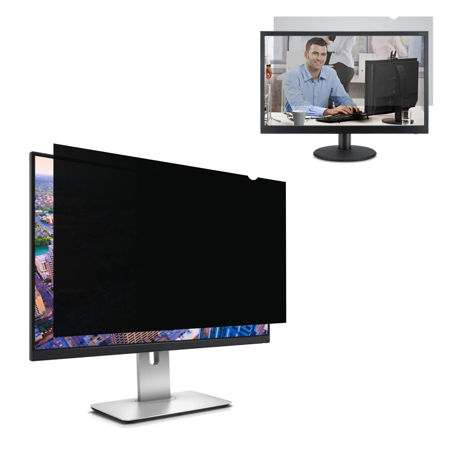 Accgonon Computer Privacy Screen Filters for 25-inch Widescreen(16:9) Monitor Privacy Screen Protector,Anti-Glare Anti-Spy Anti-Blue Scratch and UV Protection,Easy Install by ACCGONON (Image #1)