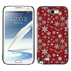 YOYO Slim PC / Aluminium Case Cover Armor Shell Portection //Christmas Holiday Red Pattern 1207 //Samsung Note 2