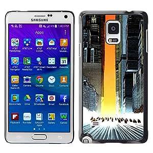 EJOY---Cubierta de la caja de protección la piel dura para el / Samsung Galaxy Note 4 / --Akira Squad