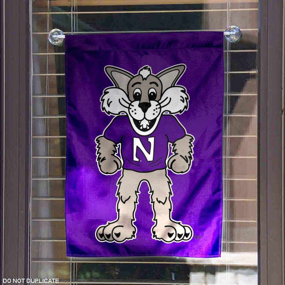 Northwestern Wildcats Willie The Wildcat Garden Flag College Flags /& Banners Co