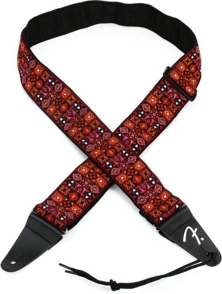 Fender 0990638009 - Correa para guitarra (tejido inspirado en la vendimia), diseño de mosaico rojo