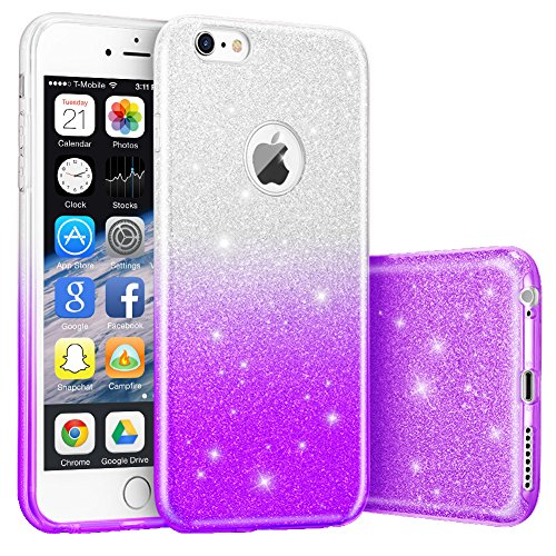 [iPhone 6S Plus Case, Hanlesi Flexible TPU Materials with Highly Durable Gradient Colour Bumper Case for Apple iPhone 6S Plus,6 Plus] (T018 Colour)