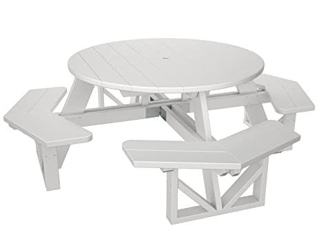 POLYWOOD PH53WH Park 53u0026quot; Octagon Table, White