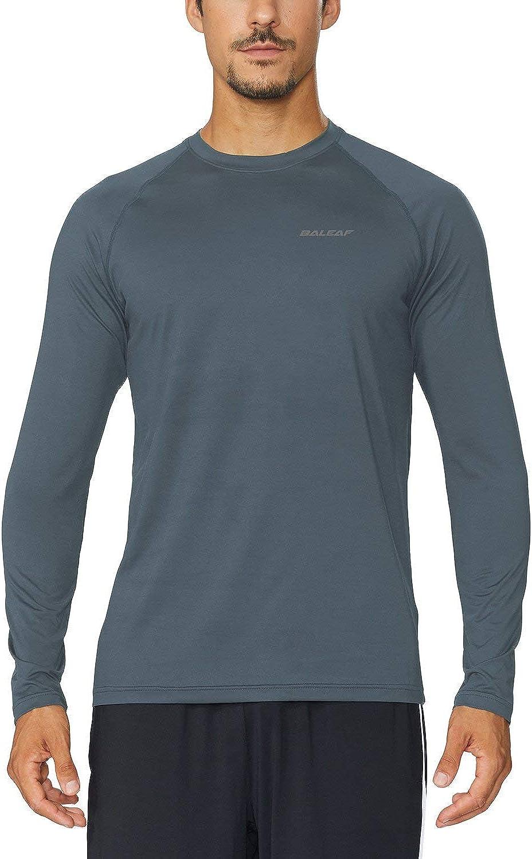 BALEAF Mens Long Sleeve Running Shirts Athletic Workout T-Shirts