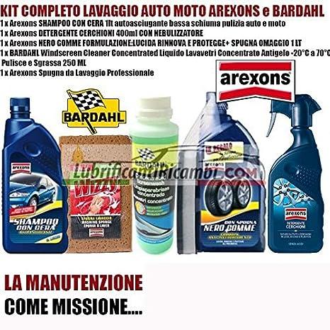 Arexons - Kit de limpieza para auto y moto Arexons Bardahl compuesto de limpiador con cera