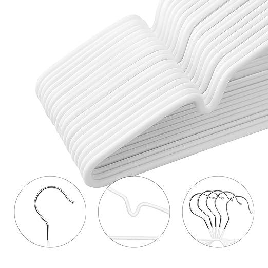 20x Samt Baby Kinderkleiderbügel extra dünn 0,5cm mit Anti-Rutsch Beschichtung