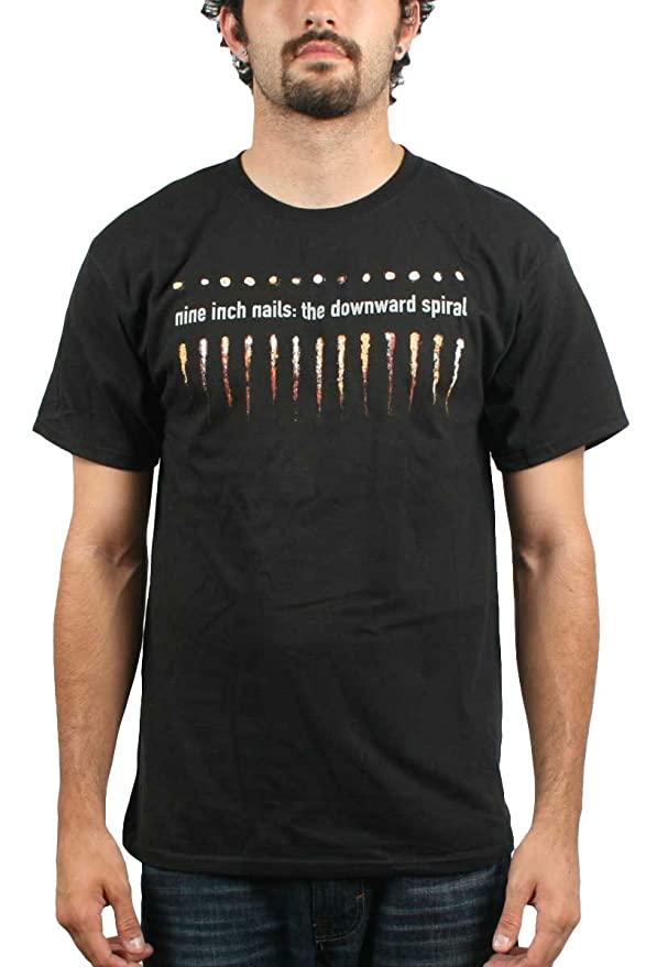 Amazon.com: Authentic NINE INCH NAILS NIN The Downward Spiral Logo T ...