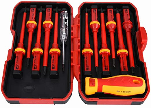 Phillips//Slotted Insulated Screwdriver Manual Screw Driver Repair Hand Tool Kids
