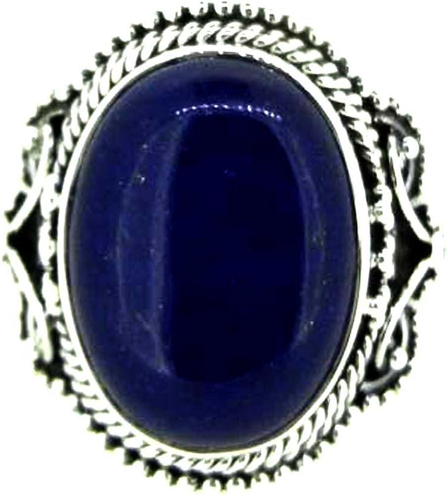 srgjewellers Lapis Lazuli Gemstone Handmade Jewelry 925 Sterling Silver Ring 9 US # 15072-15