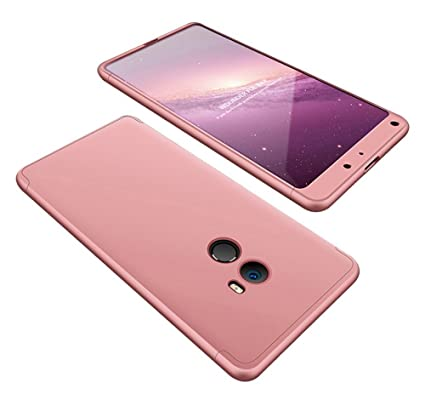 2ndSpring Xiaomi Mi Mix 2 Funda, Funda Xiaomi Mi Mix 2 360 Grados Integral para Ambas Caras + Cristal Templado, Luxury 3 in 1 PC Hard Skin Carcasa ...