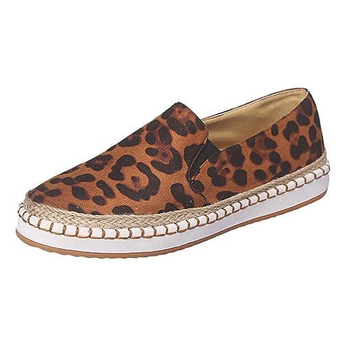 mejor sitio web 572cb 8daa7 Mocasines Informales de Piel de Leopardo para Mujer ...