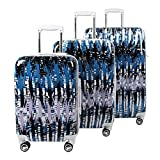 Steve Madden Luggage 3 Piece Hard Case Suitcase Set With Spinner Wheels (City Scape)
