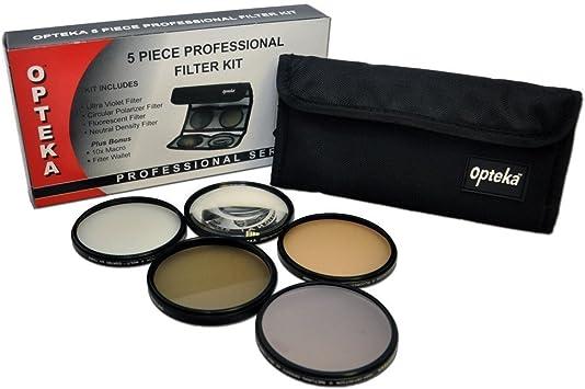 5 filtros de alta definici/ón para la c/ámara Nikon de 18-55/mm de la marca Opteka lentes Nikkor Zoom Lens f//3.5-5.6G AF-S DX VR y otras lentes de 52 mm