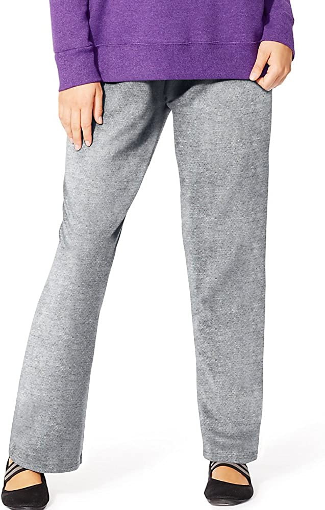 JMS Womens EcoSmart Fleece Open-Hem Sweatpant/_Light Steel/_4X
