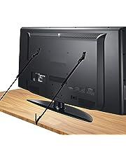 [2 Pezzi] Cinghie Antiribaltamento per TV e Mobili, Canwn Cinghie Antiribaltamento TV Regolabili 70cm Cinghie di Sicurezza TV Universal con Viti di Dimensioni Diverse per Tutti i TV(Nero)